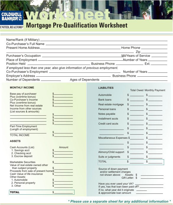 Worksheets Mortgage Pre Qualification Worksheet okaloosa mls sitemap prequalification form see if you pre qualify for a mortgage this is an image that will print full size onto standard 8 5 inch x 11 piece of paper
